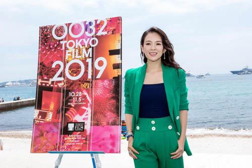 章子怡绿色套装活动亮相 宣布担任东京电影节评委主席
